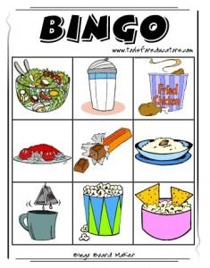 Carton de jeu bingo pour enfant