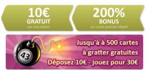 Bonus de dépot Online Bingo